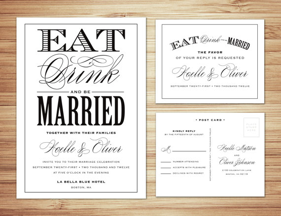 Traditional Wedding Invitation Templates: The Undomestic Bride