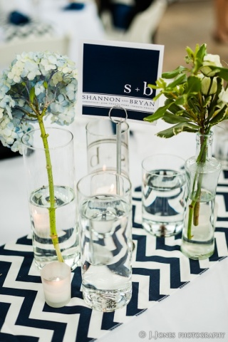 Chevron, preppy wedding