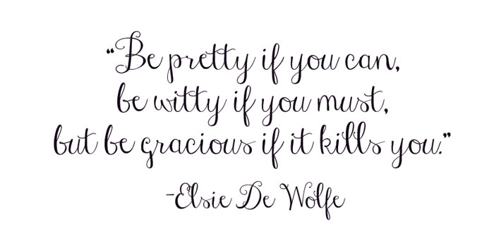 Be pretty if you can…